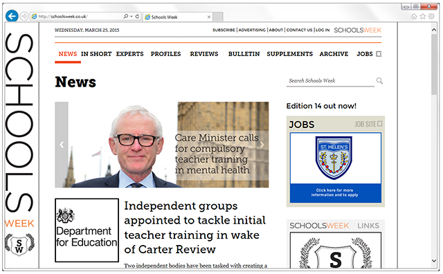 Read the latest school sector news