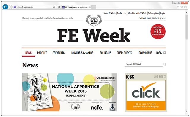 Read the latest FE sector news
